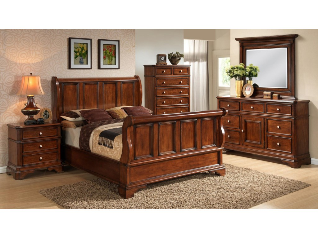 Lifestyle 3185ACalifornia King Panel Bed