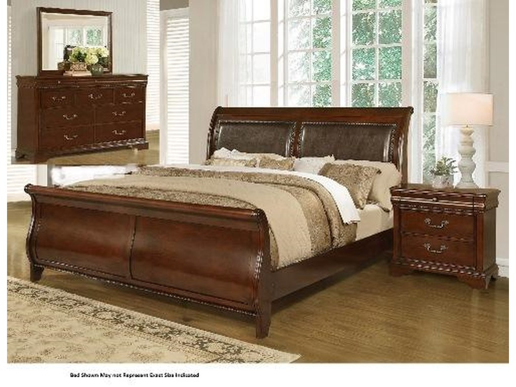 Lifestyle 4116A- Misk4PC King Bedroom Group