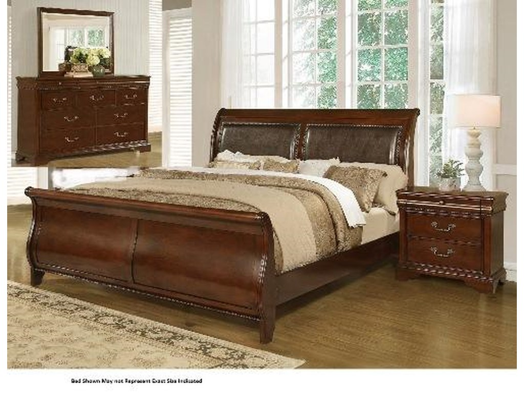 Lifestyle 4116A- Misk4PC Queen Bedroom Group