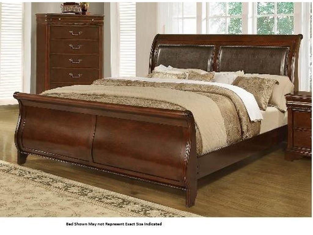 Lifestyle 4116A- MiskKing Sleigh Bed