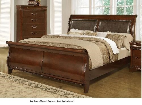 Lifestyle 4116A  Misk King Sleigh Bed