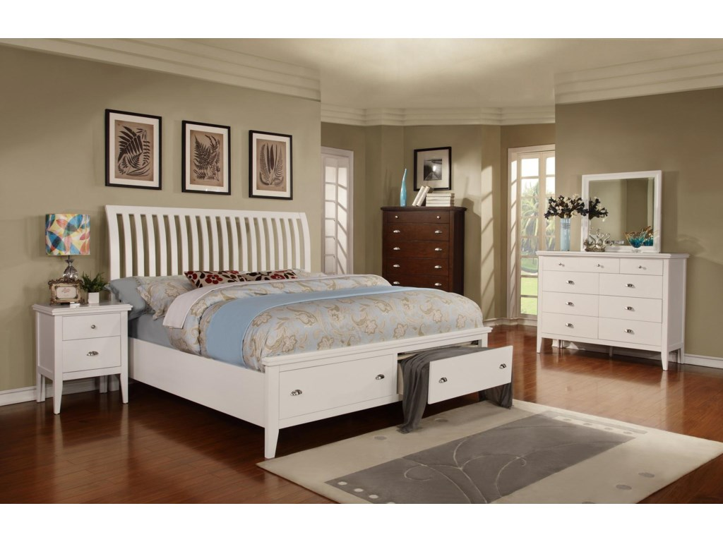 Lifestyle JillianQueen Sleigh Storage Bed