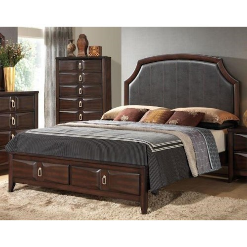 Lifestyle Avery King Upholstered Storage Bed