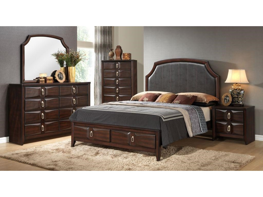 Lifestyle AveryQueen Upholstered Storage Bed