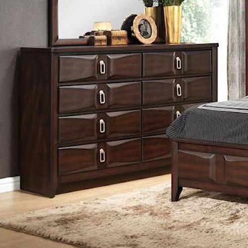 Lifestyle Avery Transitional Eight Drawer Dresser