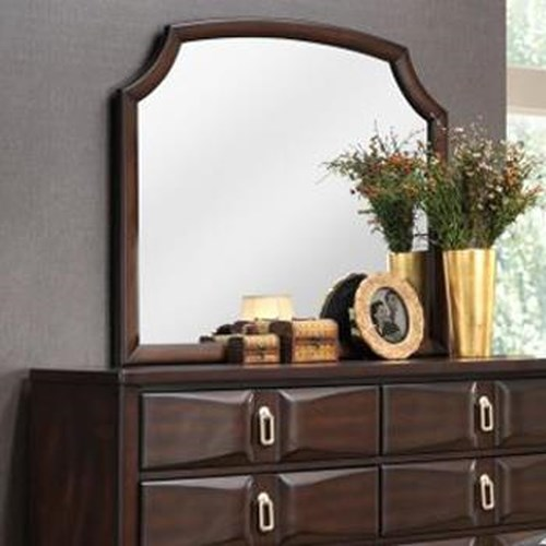 Lifestyle Avery Transitional Arched Mirror with Beveled Glass
