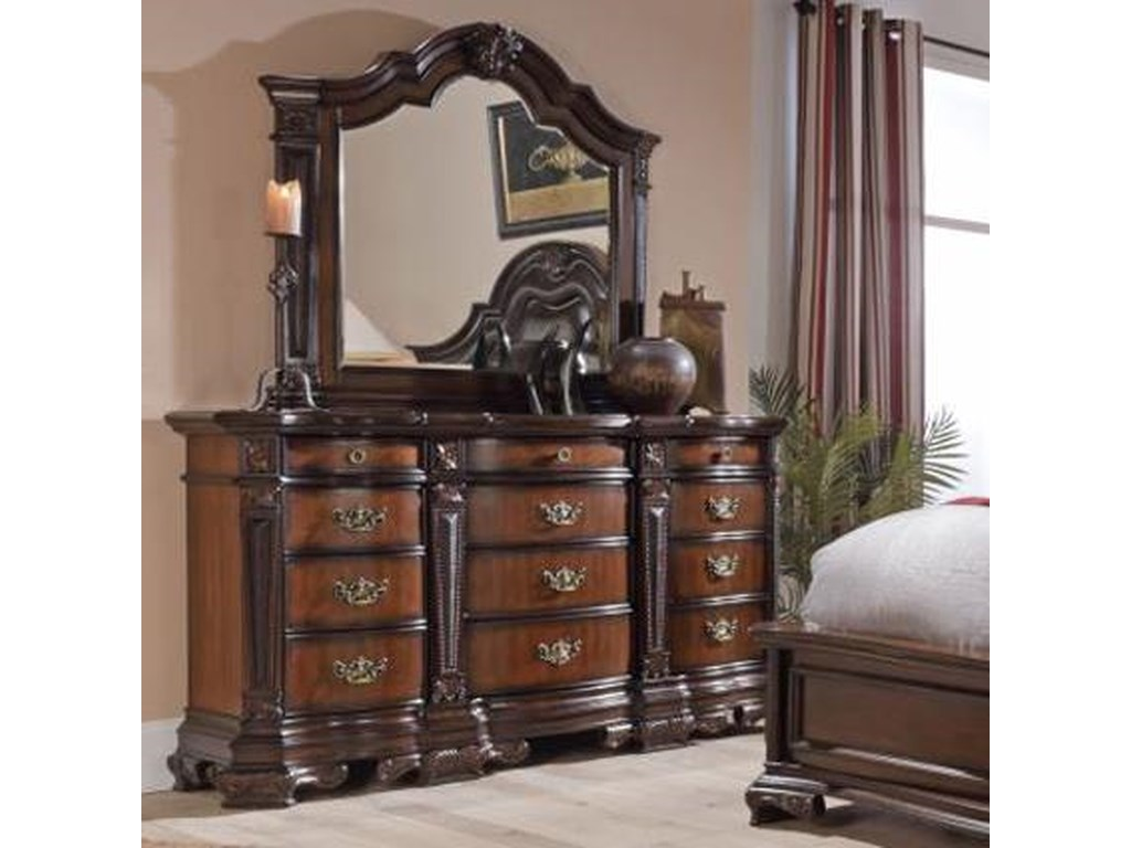Lifestyle JadeDresser and Mirror Set