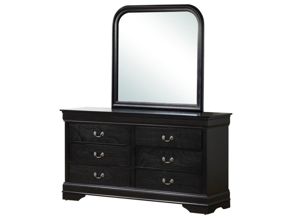 Lifestyle 4935Mirror with Wood Frame
