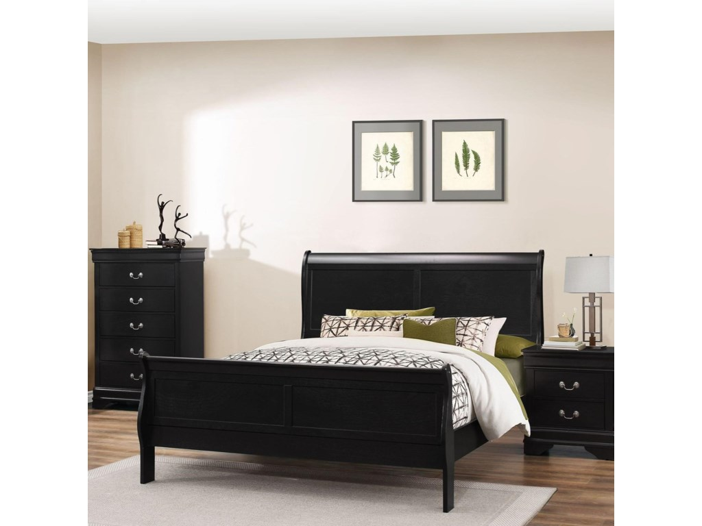 Lifestyle 4935Full Sleigh Bed