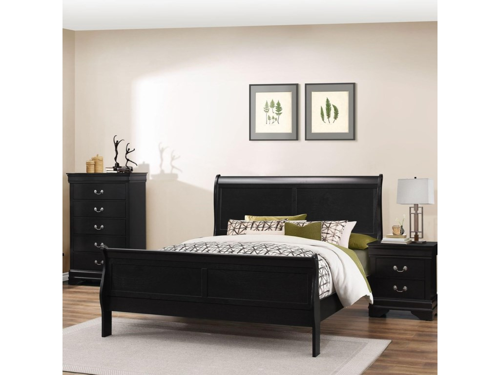 Lifestyle 4935Queen Sleigh Bed
