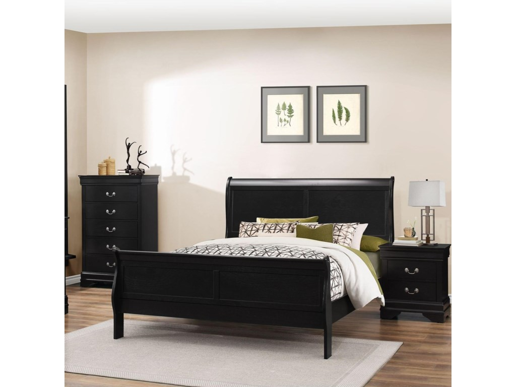 Lifestyle 4935Twin Sleigh Bed