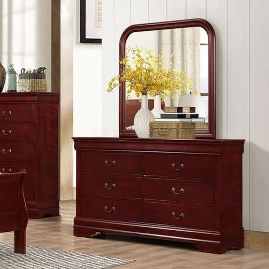 Lifestyle 49376 Drawer Dresser and Mirror