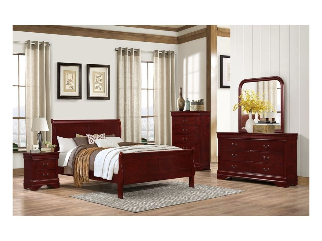 Lifestyle 4937Twin Sleigh Bed