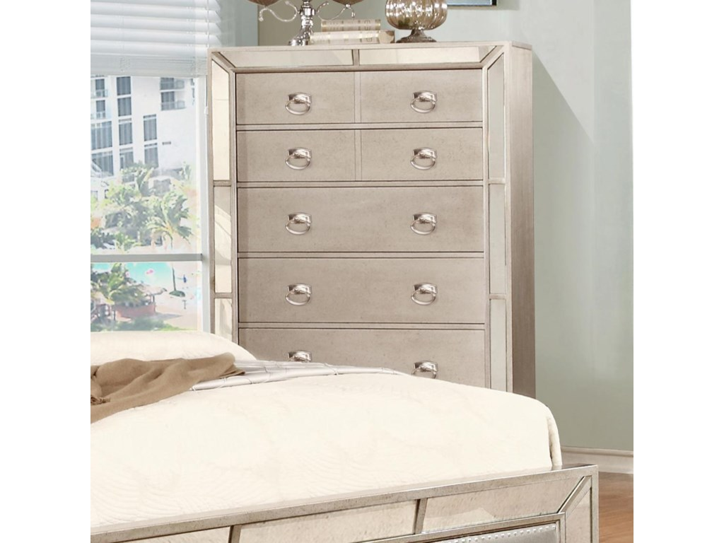 Lifestyle GlitzyChest with 5 Drawers