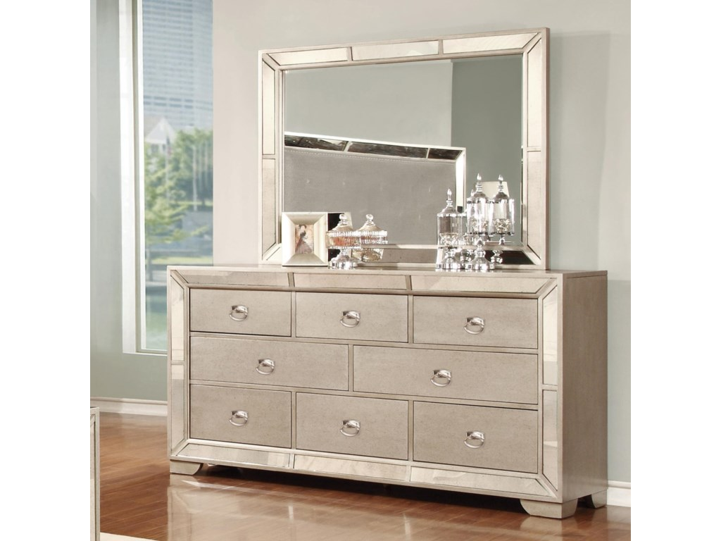 Lifestyle Glitzy7 Drawer Dresser and Mirror