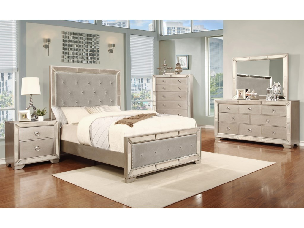 Lifestyle GlitzyDresser with 7 Drawers