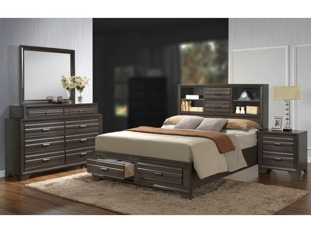 Lifestyle Slater 4PC King Bedroom Set