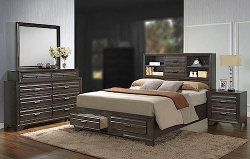 Lifestyle Slater 4PC Queen Storage Bedroom Set