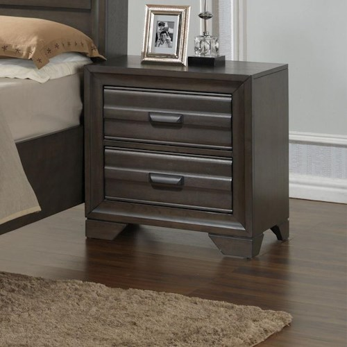 Lifestyle 5236A 2 Drawer Nightstand