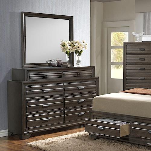 Lifestyle 5236A Dresser and Mirror Set