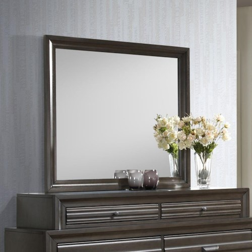 Lifestyle 5236A Dresser Mirror with Wood Frame