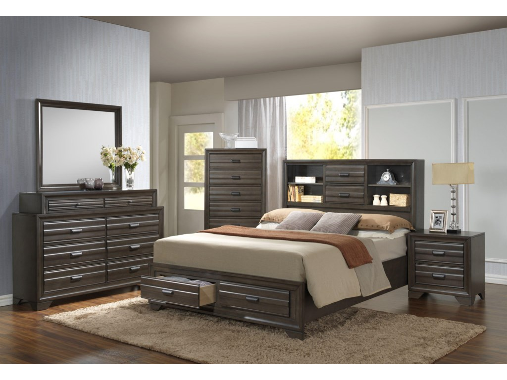 queen beds drawers products reflections dania with bed storage c furniture