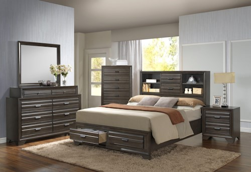 Lifestyle Slater Queen Storage Bed
