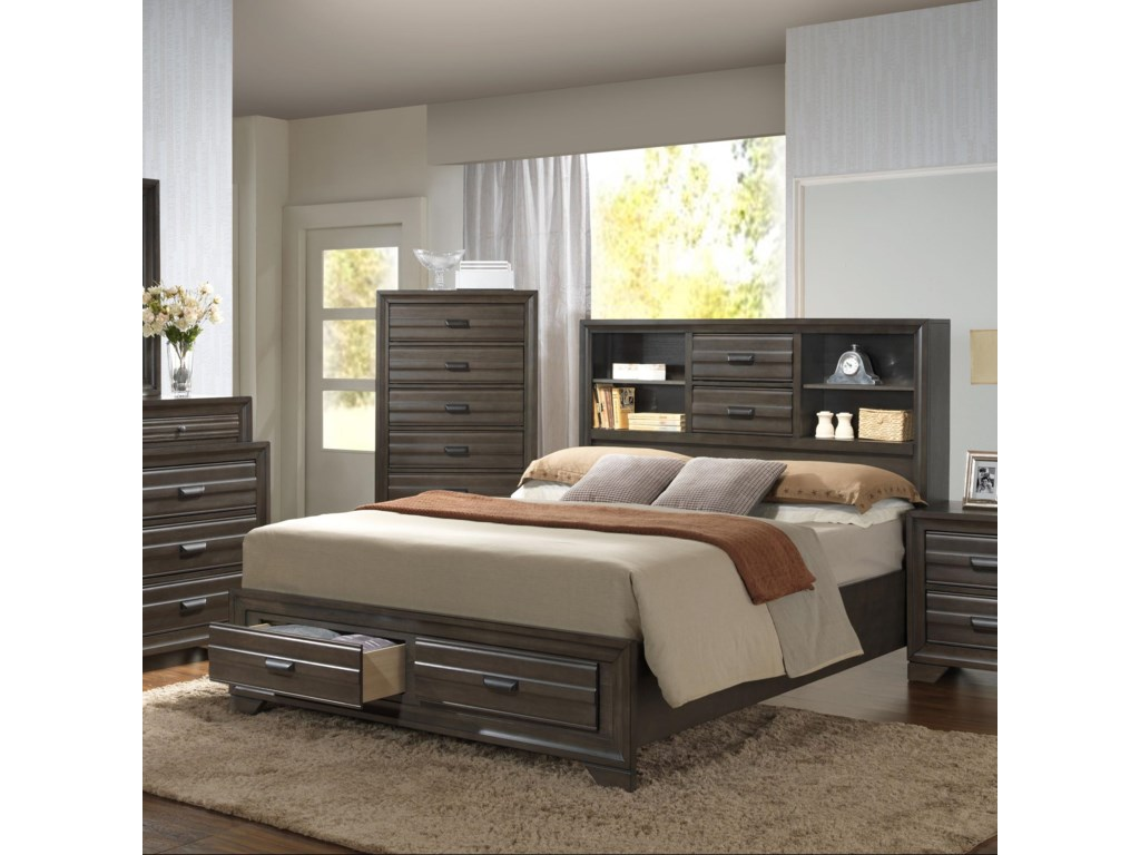 Lifestyle 5236AKing Storage Bed
