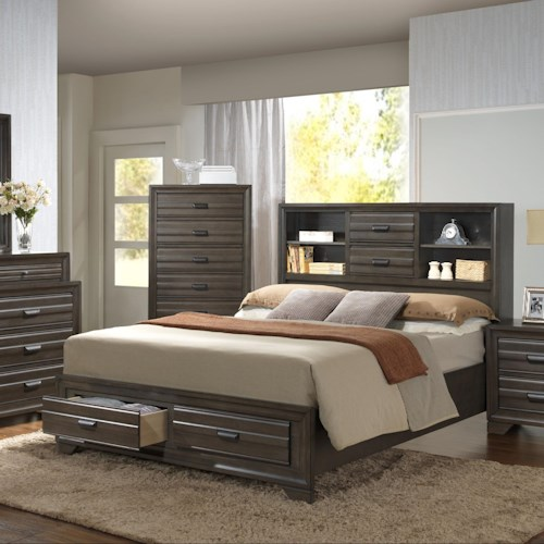 Lifestyle 5236A King Storage Bed