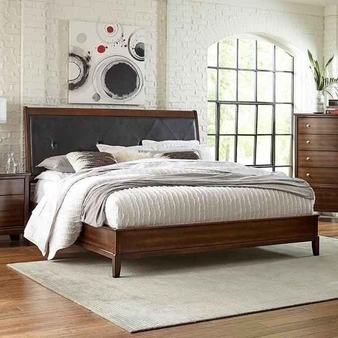 Picture of: Lifestyle Stacey King Low Profile Bed With Upholstered Headboard Royal Furniture Upholstered Beds