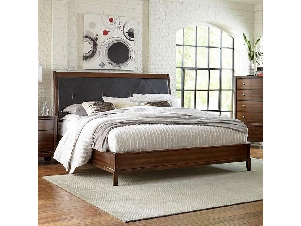 Lifestyle StaceyQueen Upholstered Headboard Bed