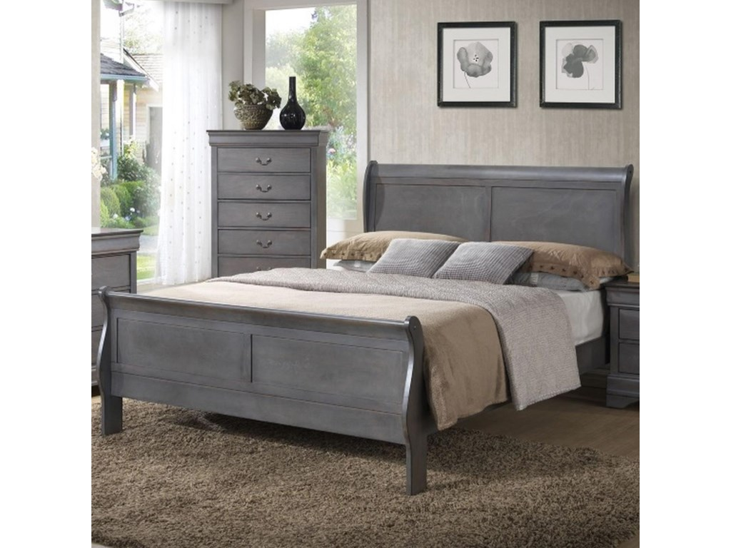 Lifestyle 4934AQueen Sleigh Bed