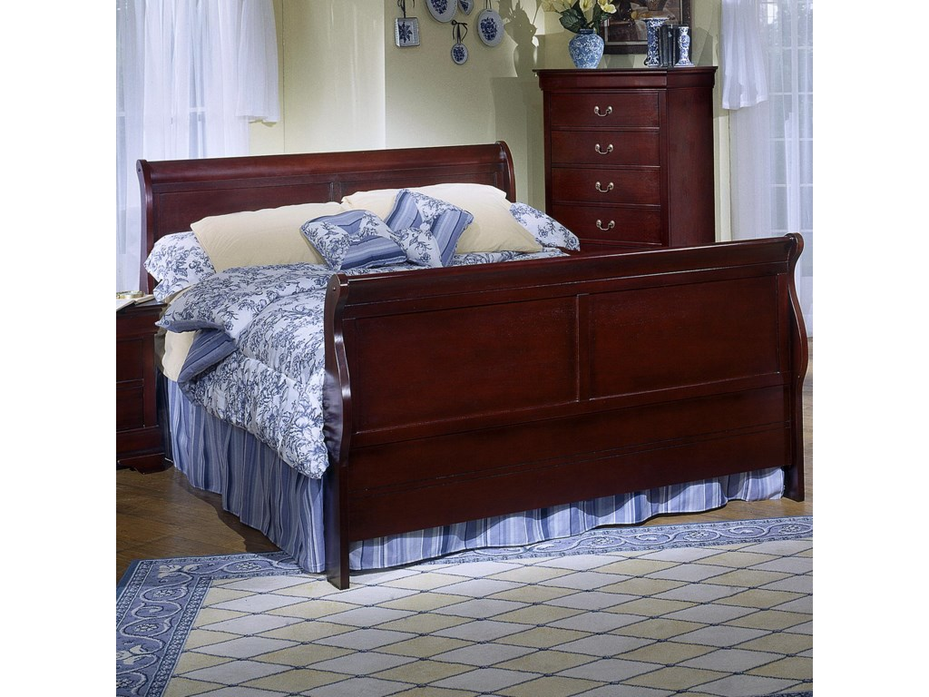 Lifestyle 5933Full Sleigh Panel Bed