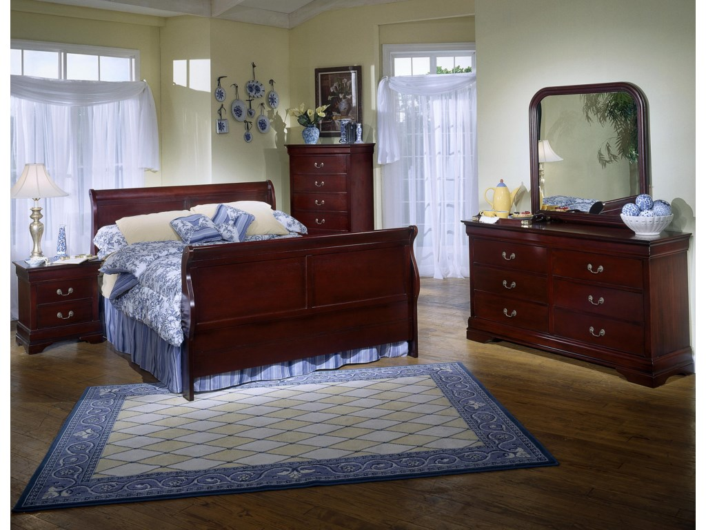 Lifestyle 5933King Sleigh Bed