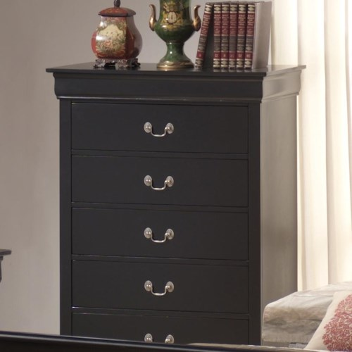 Lifestyle 5934 5 Drawer Chest w/ Bail Handles