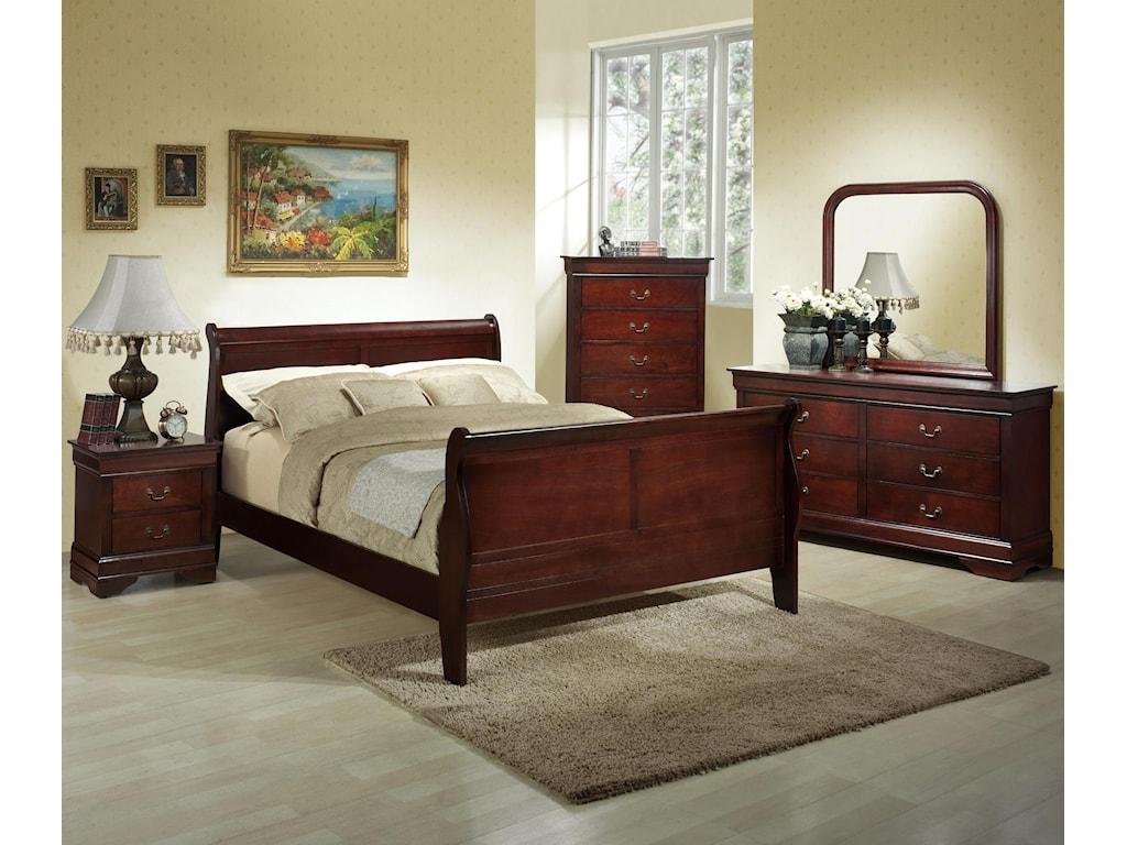 Lifestyle Louis PhillipeQueen Sleigh Bed