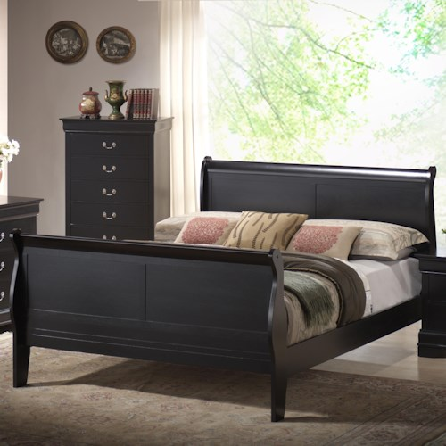 Lifestyle 5934 Louis Phillippe Queen Sleigh Bed