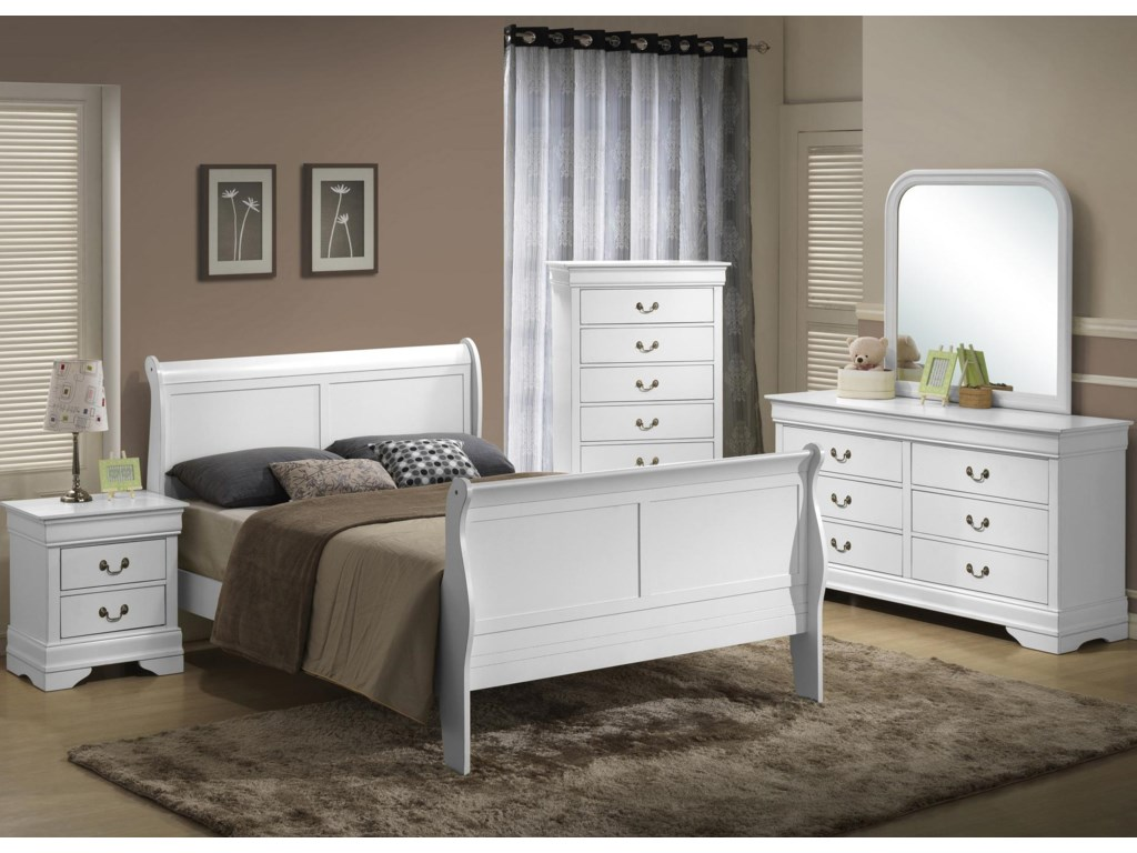 Lifestyle 5939Queen Sleigh Bed