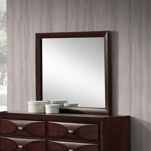 Lifestyle Banfield Mirror with Wood Frame