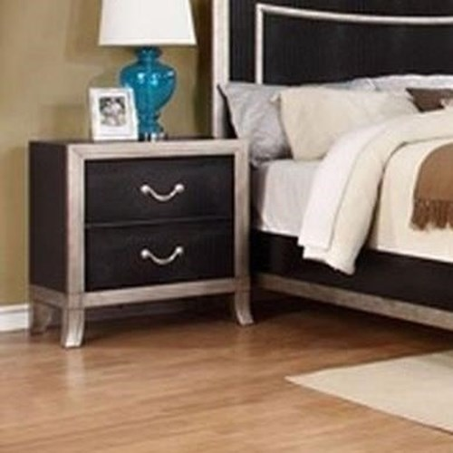 Lifestyle Natalia 2 Draw Nightstand with Full Extension Glides