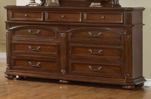 Lifestyle Empire 9 Drawer Dresser with Full Extension Glides