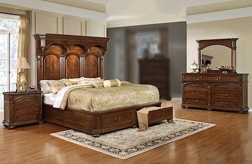 Lifestyle Empire 4PC King Storage Bedroom Set