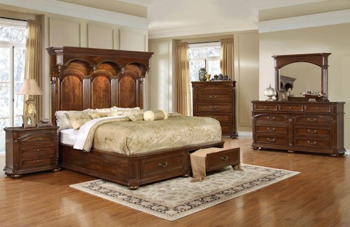 Lifestyle Empire 5PC Queen Storage Bedroom Set