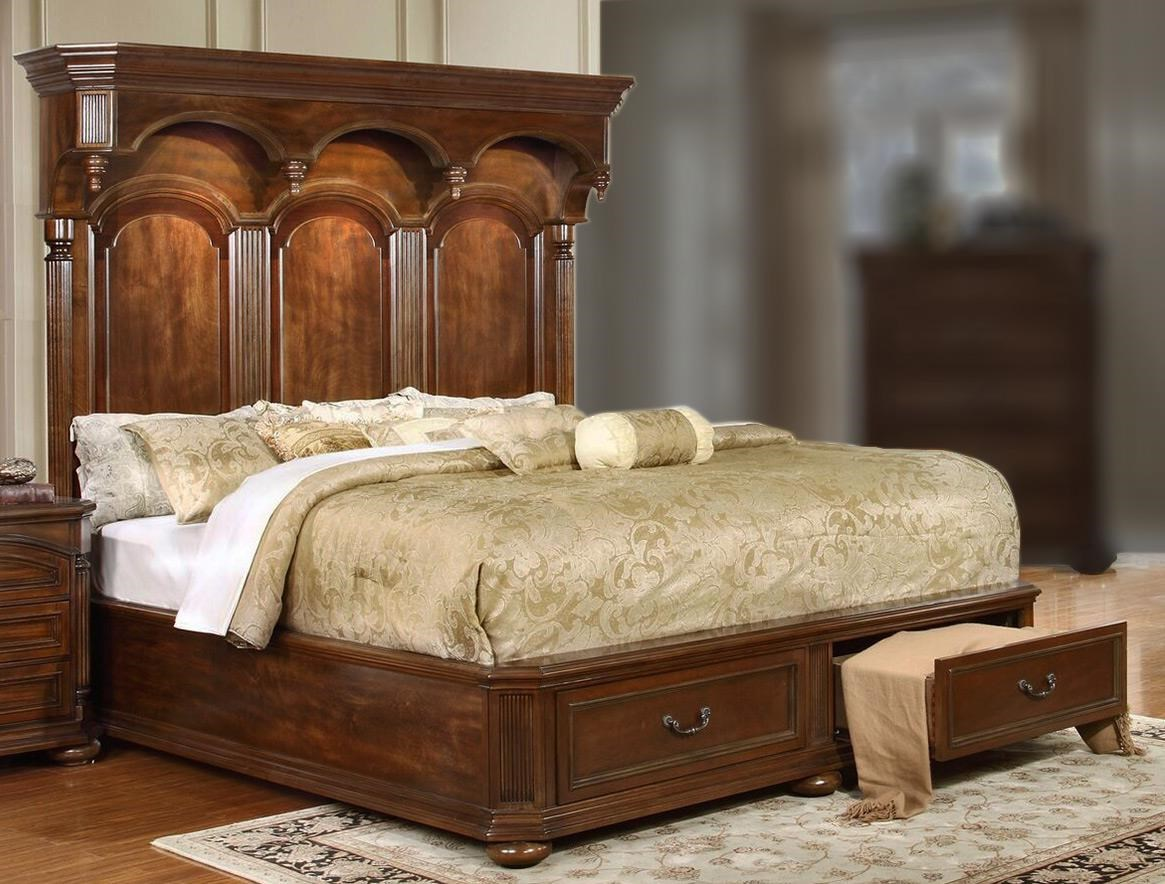Empire Queen Storage Bed With Headboard Lighting By Lifestyle At Rotmans