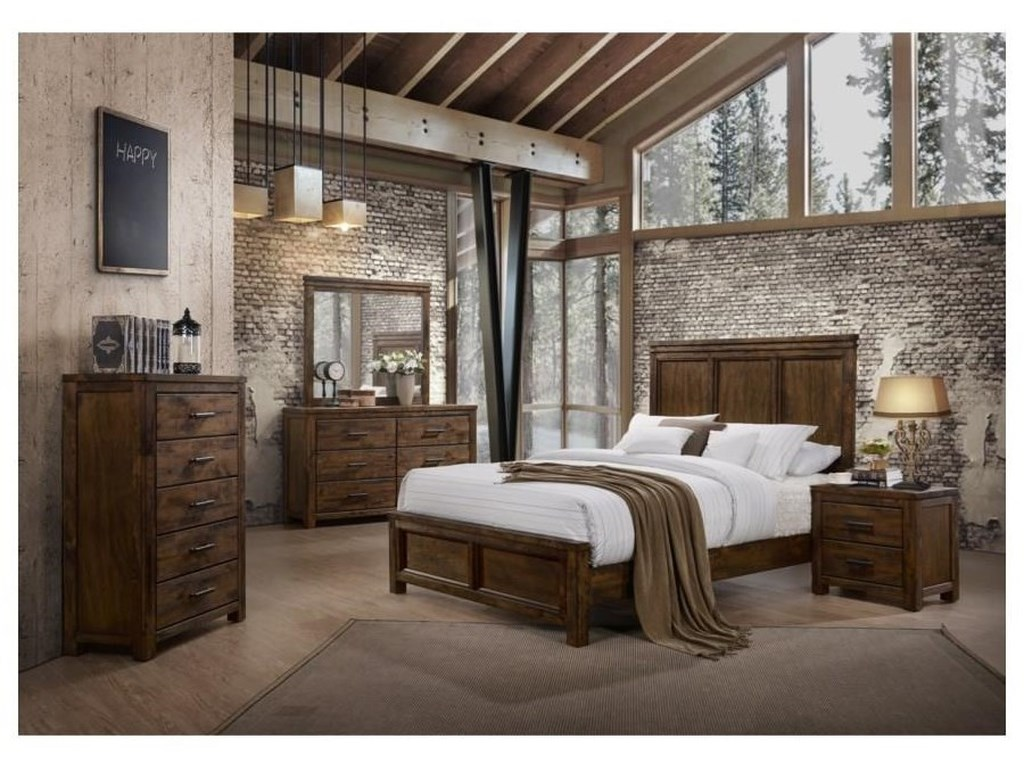 Lifestyle 6377Queen Panel Bed Package