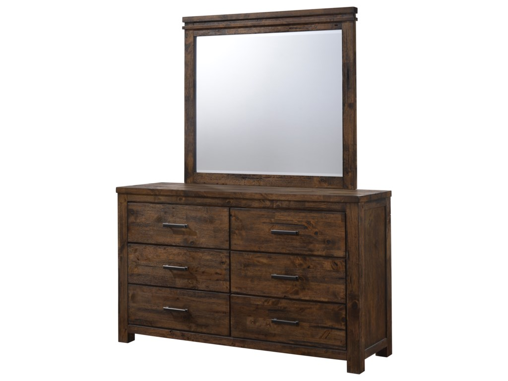 Lifestyle 6377Dresser and Mirror Set