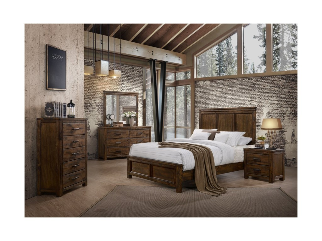 Lifestyle 6377King Panel Bed