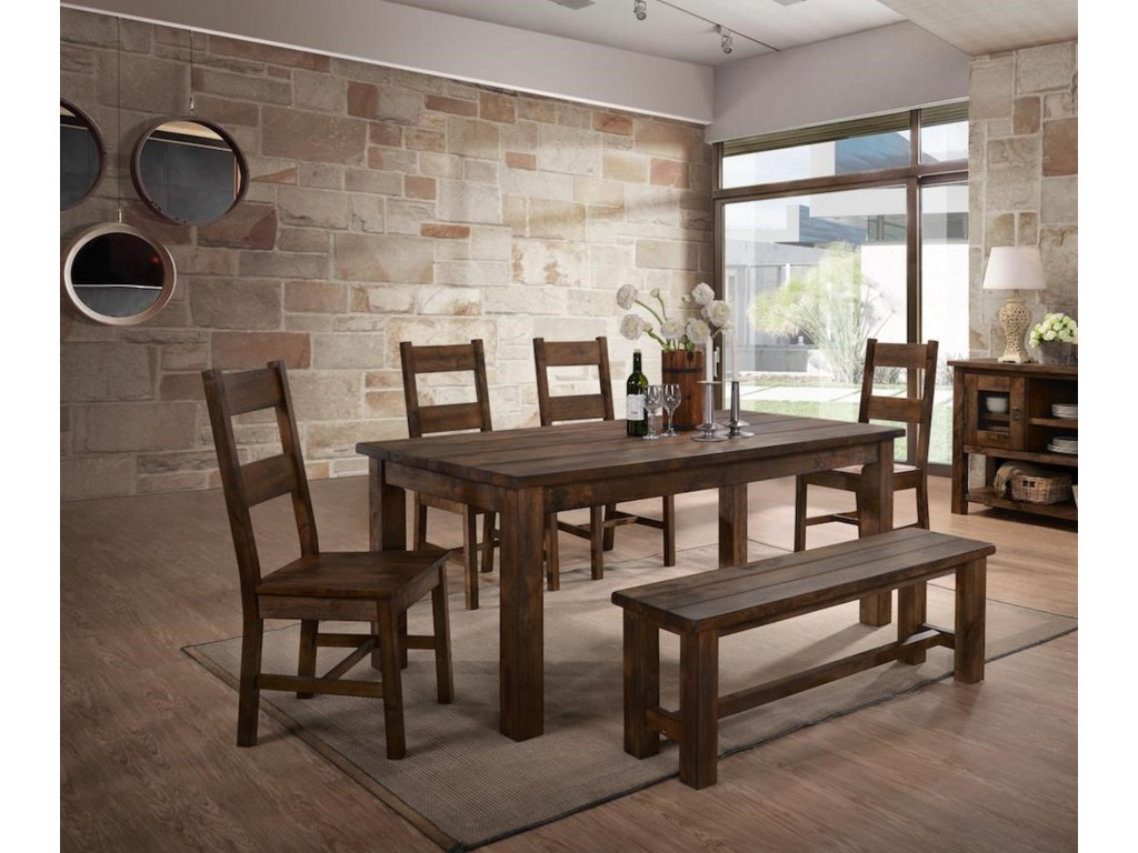 Lifestyle 6377D6 Piece Dining Group with Bench