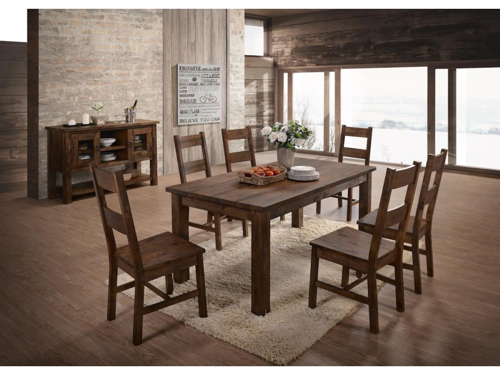 Lifestyle 6377D8 Piece Dining Group with Server