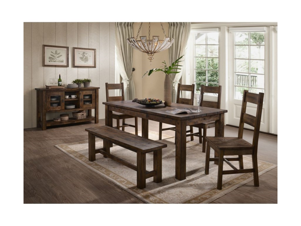 Lifestyle KristenTable and Chair Set with Bench